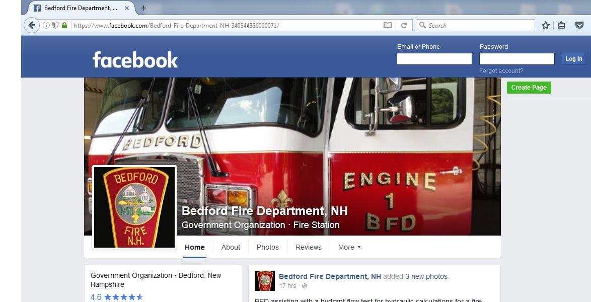 BFD Facebook Homepage
